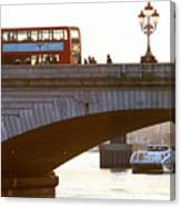Commuters Use New High-Speed Catamaran Clippers Operated By MBNA Thames Clippers Canvas Print