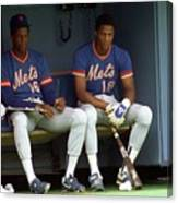 Dwight Gooden and Darryl Strawberry Canvas Print