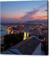 Hermitage And Views Of Blanes At Sunset Canvas Print