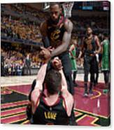Kevin Love and Lebron James Canvas Print