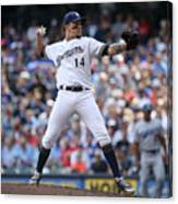 Los Angeles Dodgers v Milwaukee Brewers Canvas Print