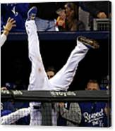 Mike Moustakas and Adam Jones Canvas Print