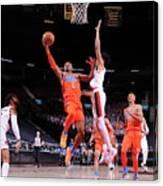 Oklahoma City Thunder v Portland Trail Blazers Canvas Print