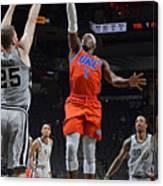 Oklahoma City Thunder vs. San Antonio Spurs Canvas Print