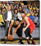 Stephen Curry and Seth Curry Canvas Print