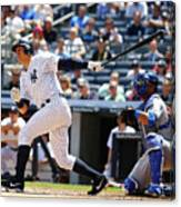 Alex Rodriguez, Eric Hosmer, and Chris Young Canvas Print