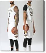 Demarcus Cousins and Anthony Davis Canvas Print