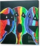 3- Head Singing Trio Canvas Print