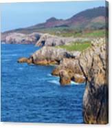 The Cantabrian Coast By Llanes, Asturias Canvas Print