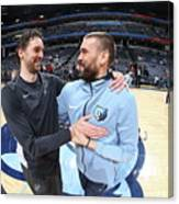 Marc Gasol and Pau Gasol Canvas Print