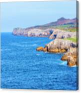 The Cantabrian Coast By Llanes, Asturias Canvas Print