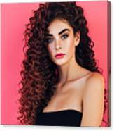 Beautiful Woman With Lush Hairstyle Canvas Print