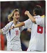 Fussball: EM 2004 in Portugal, NED-CZE Canvas Print