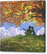 A Song For Us In Autumn Canvas Print