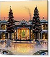 A Warm Home For The Holidays Canvas Print