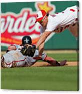 Aaron Rowand and Ryan Theriot Canvas Print