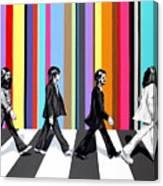 Abbey Road Technicolor  Canvas Print