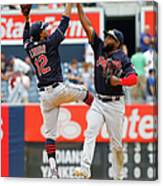 Abraham Almonte and Francisco Lindor Canvas Print
