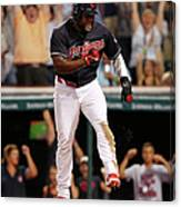 Abraham Almonte And Tyler Naquin Canvas Print