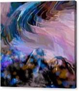 Abstract Island Girl Slumbering On The Beach Canvas Print