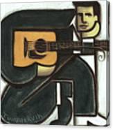 Abstract Johnny Cash Guitar Art Print Canvas Print
