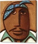 Abstract Tupac Shakur Blue Bandana Art Print Canvas Print