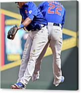 Addison Russell and Starlin Castro Canvas Print