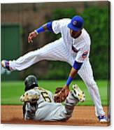 Addison Russell and Starling Marte Canvas Print