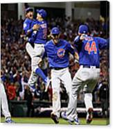 Addison Russell, Kris Bryant, and Javier Baez Canvas Print