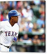 Adrian Beltre and Bruce Chen Canvas Print
