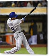 Adrian Beltre and Elvis Andrus Canvas Print