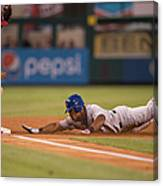 Adrian Beltre And Yunel Escobar Canvas Print