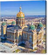 Aerial Of Iowa Capital March 4 2017 Canvas Print