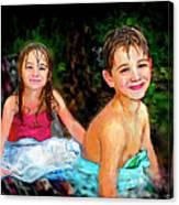 After- Swim Canvas Print