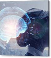 AI (Artificial Intelligence) concept. Education concept. Canvas Print