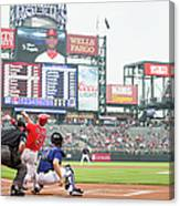 Albert Pujols and Chad Bettis Canvas Print