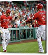 Albert Pujols and Kole Calhoun Canvas Print