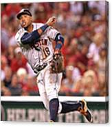 Albert Pujols and Luis Valbuena Canvas Print