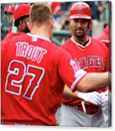 Albert Pujols and Mike Trout Canvas Print