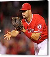 Albert Pujols, Nick Franklin, and Cam Bedrosian Canvas Print