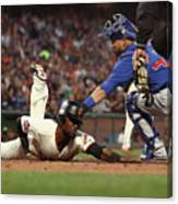 Alen Hanson and Willson Contreras Canvas Print