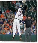 Alex Bregman and Darwin Barney Canvas Print