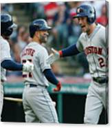 Alex Bregman, Mike Clevinger, and Tony Kemp Canvas Print