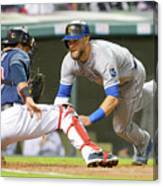 Alex Gordon and Yan Gomes Canvas Print