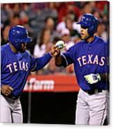 Alex Rios and Prince Fielder Canvas Print