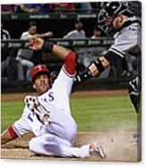 Alex Rios and Tyler Flowers Canvas Print
