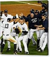 Alex Rodriguez, Mark Teixeira, And Mariano Rivera Canvas Print