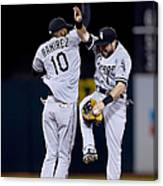 Alexei Ramirez and Adam Eaton Canvas Print