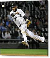 Alexei Ramirez and Ben Zobrist Canvas Print