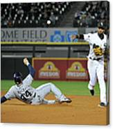 Alexei Ramirez and Rene Rivera Canvas Print